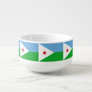Dschibuti-Flagge Große Suppentasse