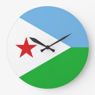 Dschibuti-Flagge Große Wanduhr
