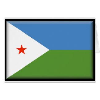 Dschibuti-Flagge Karte