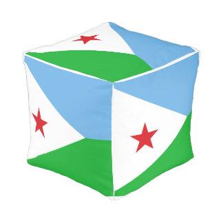 Dschibuti-Flagge Kubus Sitzpuff
