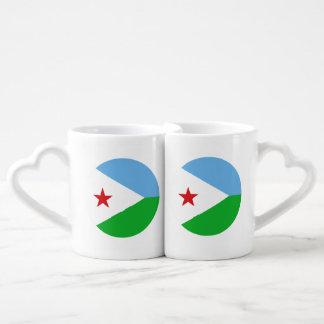 Dschibuti-Flagge Liebestassen