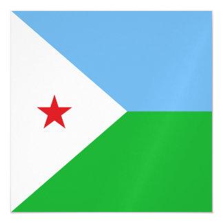 Dschibuti-Flagge Magnetische Karte