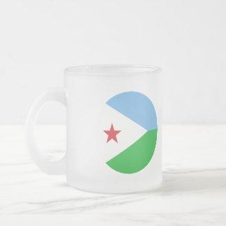 Dschibuti-Flagge Mattglastasse