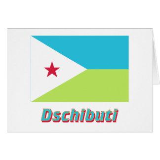 Dschibuti Flagge MIT Namen Karte