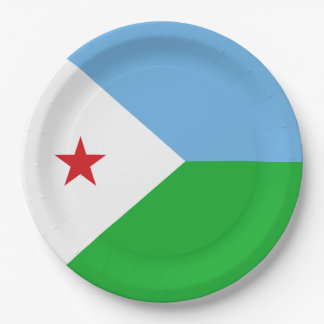 Dschibuti-Flagge Pappteller