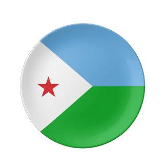 Dschibuti-Flagge Porzellanteller