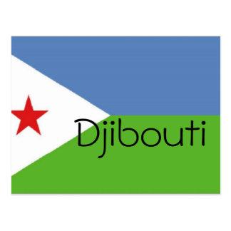 Dschibuti-Flagge Postkarte