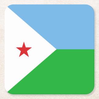 Dschibuti-Flagge Rechteckiger Pappuntersetzer