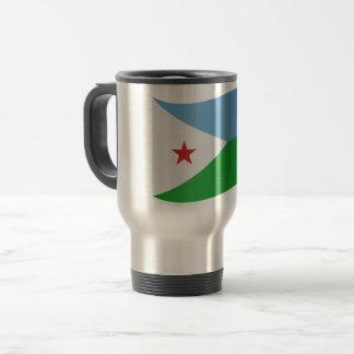 Dschibuti-Flagge Reisebecher