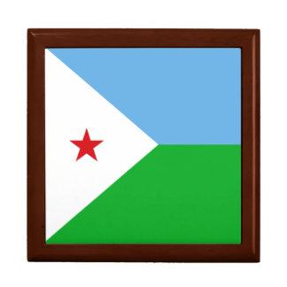 Dschibuti-Flagge Schmuckschachtel
