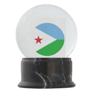Dschibuti-Flagge Schneekugel