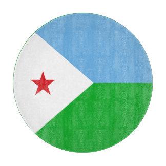 Dschibuti-Flagge Schneidebrett