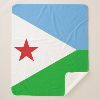 Dschibuti-Flagge Sherpadecke