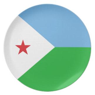 Dschibuti-Flagge Teller