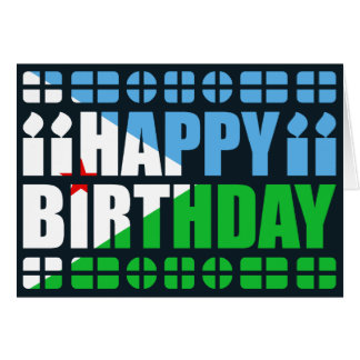 Dschibuti-Flaggen-Geburtstags-Karte Karte