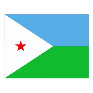 Dschibuti-Flaggen-Postkarte Postkarte