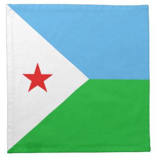 Dschibuti-Flaggen-Serviette Serviette