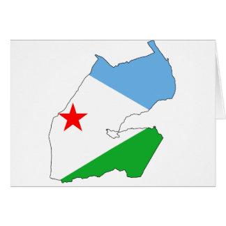Dschibuti-Flaggenkarte DJ Karte