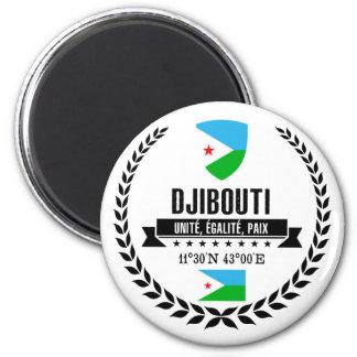Dschibuti Runder Magnet 5,7 Cm