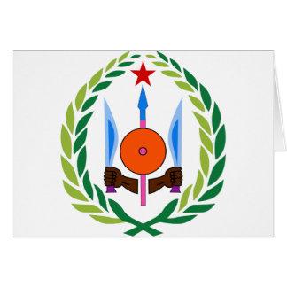 Dschibuti-Wappen DJ Karte