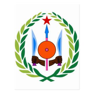 Dschibuti-Wappen DJ Postkarte