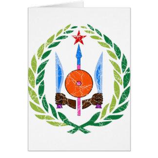 Dschibuti-Wappen Karte