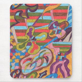 """Dschungel abstrakte Kunst Stripes I"" Mousepads"
