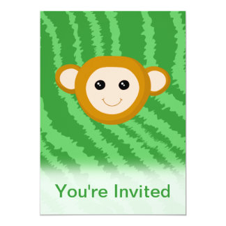 Dschungel-Affe, Gesicht 12,7 X 17,8 Cm Einladungskarte