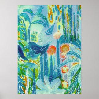 Dschungel-Blätter Poster