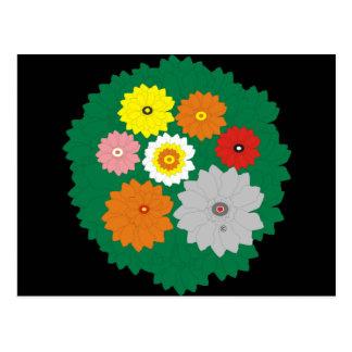 Dschungel-Blumen Postkarten