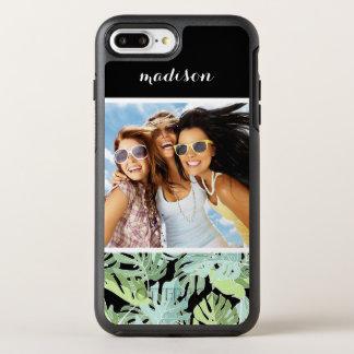 Dschungel-Blumenmuster | addieren Ihr Foto u. OtterBox Symmetry iPhone 8 Plus/7 Plus Hülle