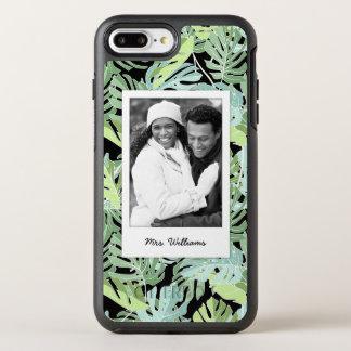 Dschungel-Blumenmuster   addieren Ihr Foto u. OtterBox Symmetry iPhone 8 Plus/7 Plus Hülle