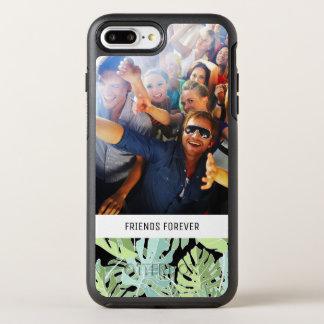Dschungel-Blumenmuster | addieren Ihr Foto u. Text OtterBox Symmetry iPhone 8 Plus/7 Plus Hülle