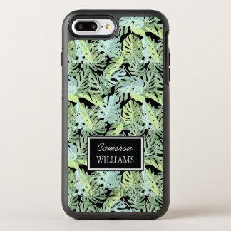 Dschungel-Blumenmuster   addieren Ihren Namen OtterBox Symmetry iPhone 8 Plus/7 Plus Hülle