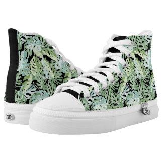 Dschungel-Blumenmuster Hoch-geschnittene Sneaker