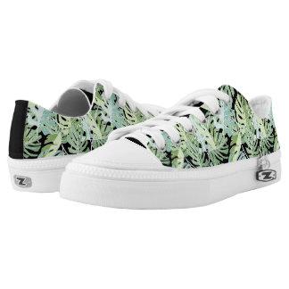 Dschungel-Blumenmuster Niedrig-geschnittene Sneaker