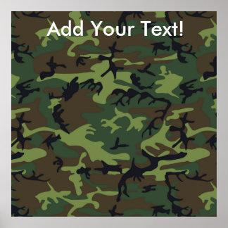 Dschungel-Camouflage Poster