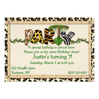 Dschungel-Druck-Geburtstags-Party