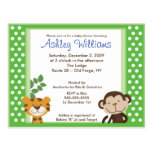 DSCHUNGEL-GESCHICHTEN ROSA Babyparty-Postkarten-Ei