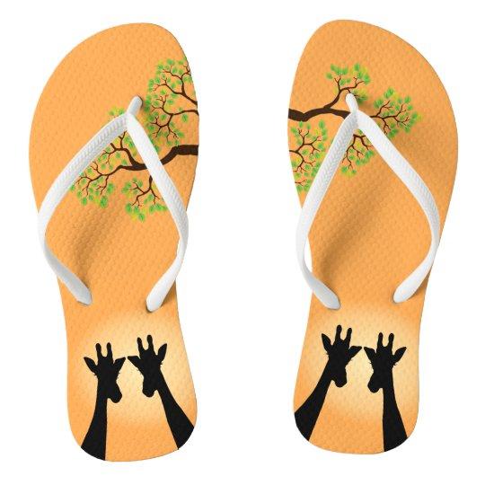 Dschungel-Giraffen Flip Flops