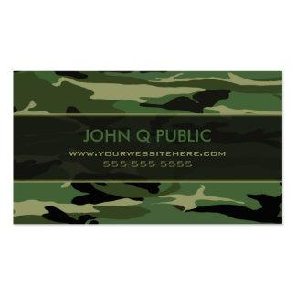 Dschungel-grünes Camouflage-Muster Visitenkarten Vorlage