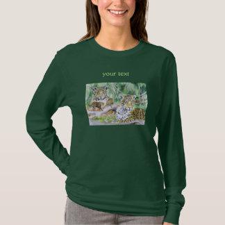 Dschungel-Jaguar-Aquarell-schöne Kunst T-Shirt
