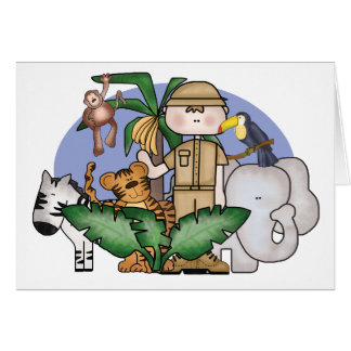 Dschungel-Junge Karte