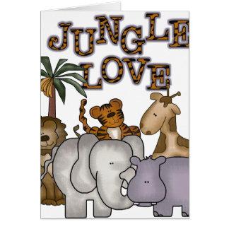 Dschungel-Liebe Karte