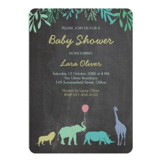Dschungel-Safari-Babyparty 12,7 X 17,8 Cm Einladungskarte