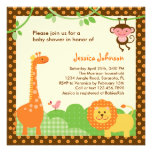 Dschungel-Safari-Babyparty-Einladung