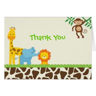 Dschungel-Safari danken Ihnen Anmerkungskarten Karte