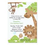 Dschungel-Safari-Geburtstags-Einladung