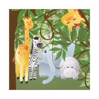 Dschungel-Safari-Tier-Kinderraum-Leinwand-Druck Leinwand Drucke
