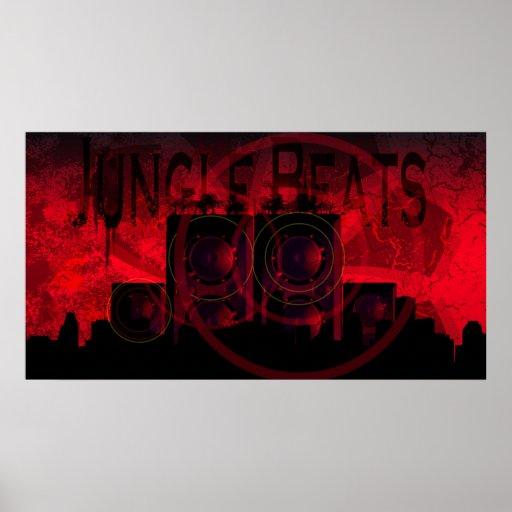 Dschungel-Schläge Poster